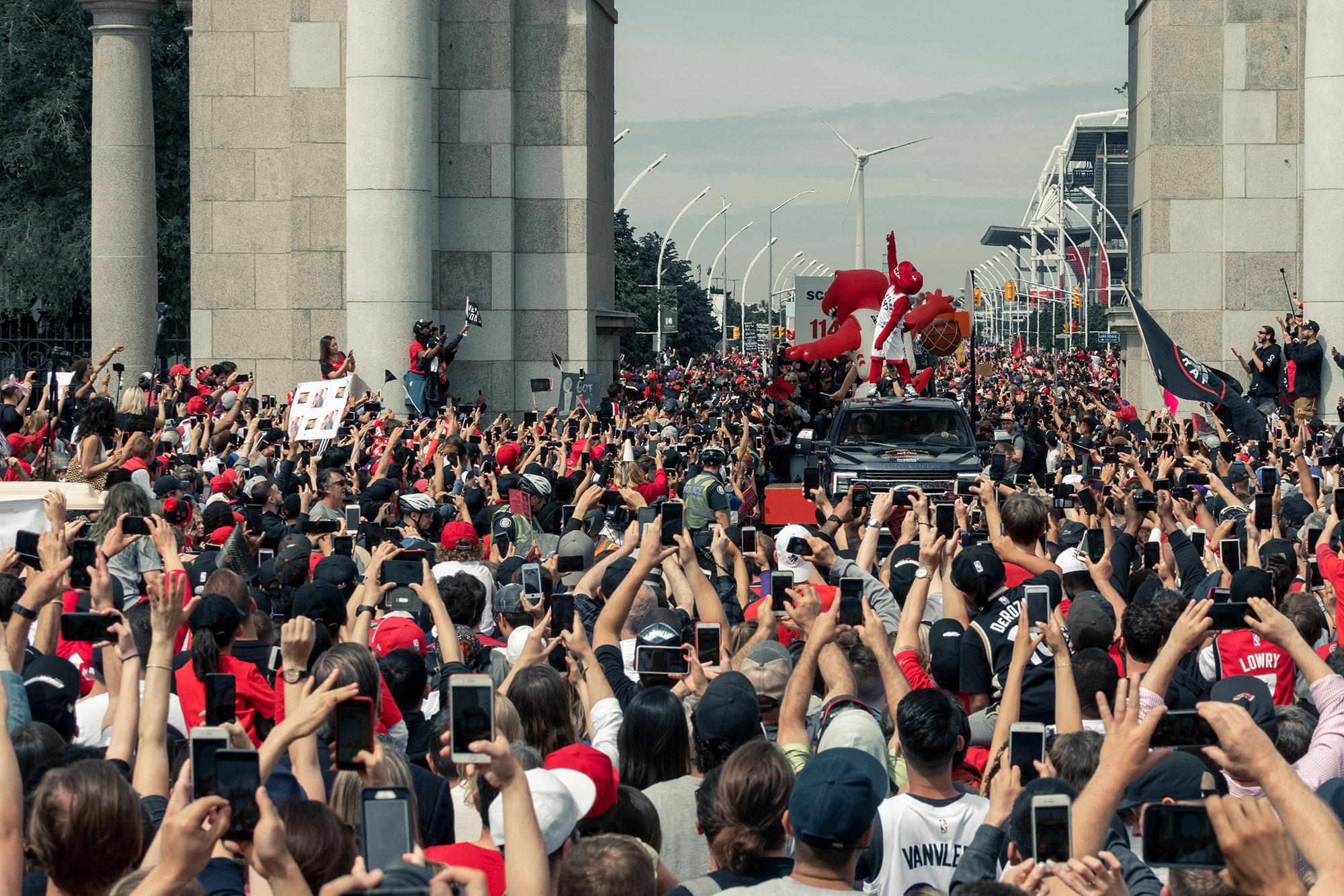The Raptor during the Championship parade